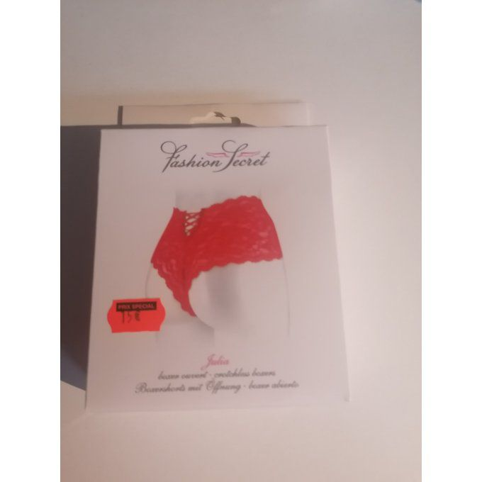 Boxer ouvert rouge